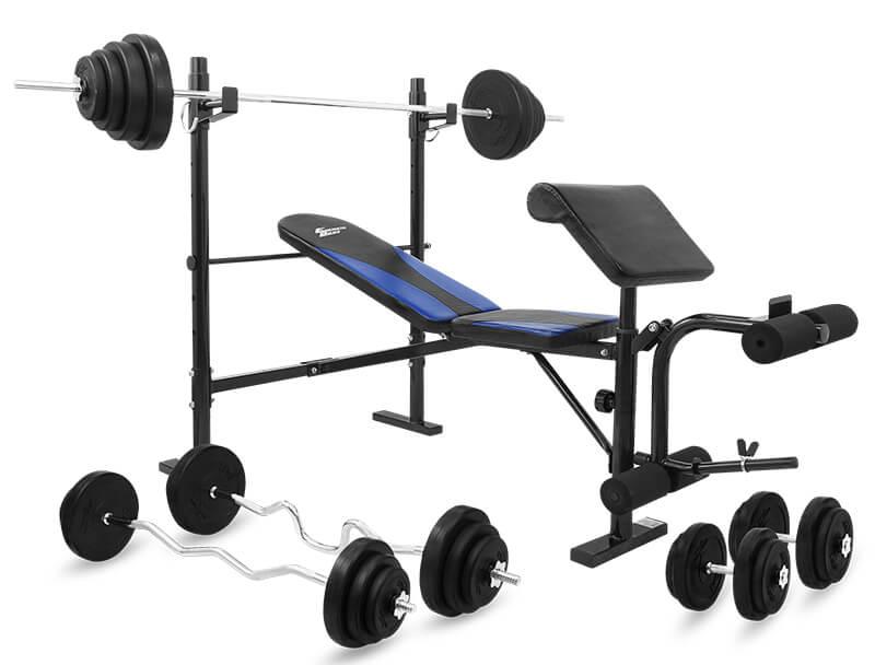 Zestaw 78 kg z ławką  Energetic Body 5000