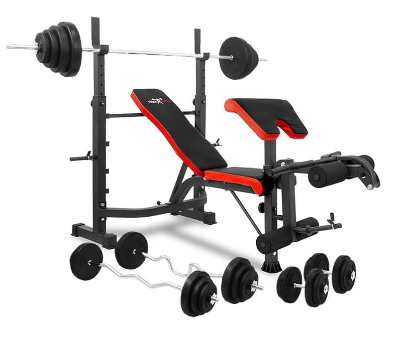 Zestaw 108 kg z ławką Hiton Polska Gym 7