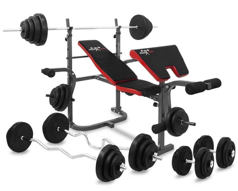 Zestaw 128 kg z ławką  Hiton Polska Gym 3