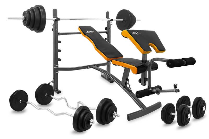 Zestaw 128 kg z ławką Hiton Polska Gym 5
